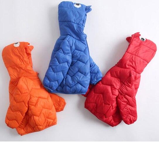 Kids Boys Light Jackets Winter Duck Down Coat Baby Girls Jackets Parka Hoodies Outerwear 1-6T
