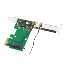 Wireless Wifi Network Card Mini PCI-E To 1X Desktop Adapter + 2 Antennas X6HB