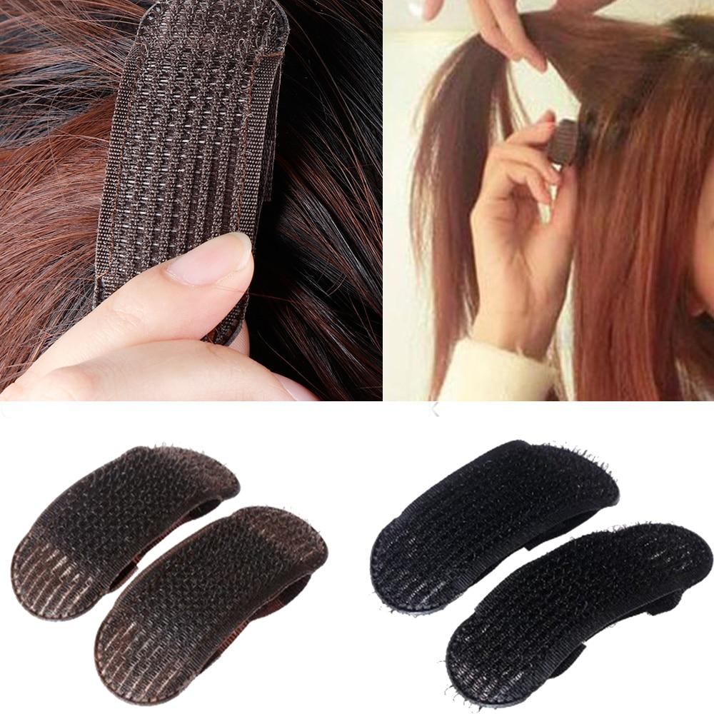 2Pcs Breathable Bangs Mat Hair Clips Black Coffee Princess Hair Tool Set Bump It Up Volume Base Hair Inserts Invisible Hair Pins