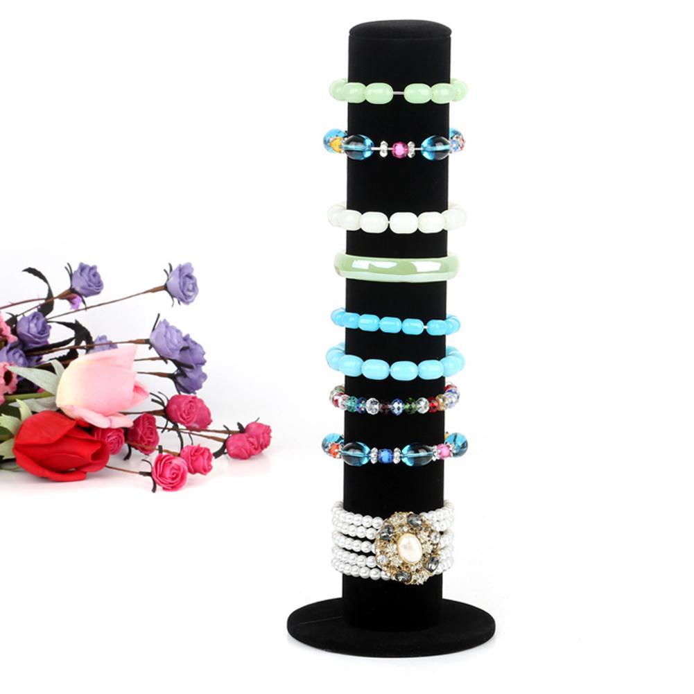 Velvet Jewelry Stand Rack Bracelet Watch Hair Hoop Display Holder Organizer Bracelet Bracelet Jewelry Display Stand Jewelry Stan
