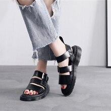 Sandálias de grife doc gladiador gryphon cinta martins couro sandálias femininas verão 2020 das mulheres sandálias lisas