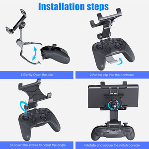 Image 5 - Switch Pro Controller Clip Mount Holder Pro Controller Adjustable Clamp Handle Rotate Bracket for Nintend Switch/ Lite Console