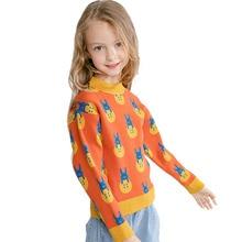 Bongawan/свитер для девочек Повседневная модная детская одежда с рисунком кролика на осень и зиму для детей от 3 до 8 лет, Рождественская одежда для дня рождения