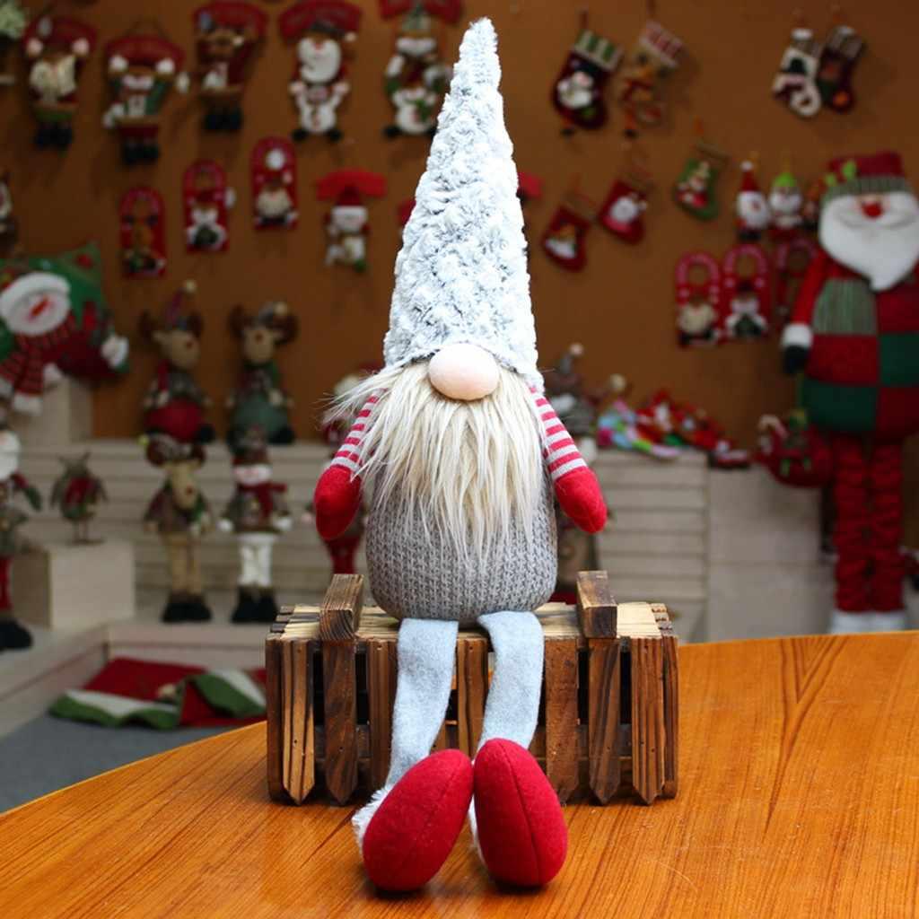 Fatti a mano Giocattolo Farcito di Santa Bambola Svedese Gnome Scandinavo Tomte Nordic Nisse Sockerbit Nano Elf Casa Ornamenti Di Natale Santa
