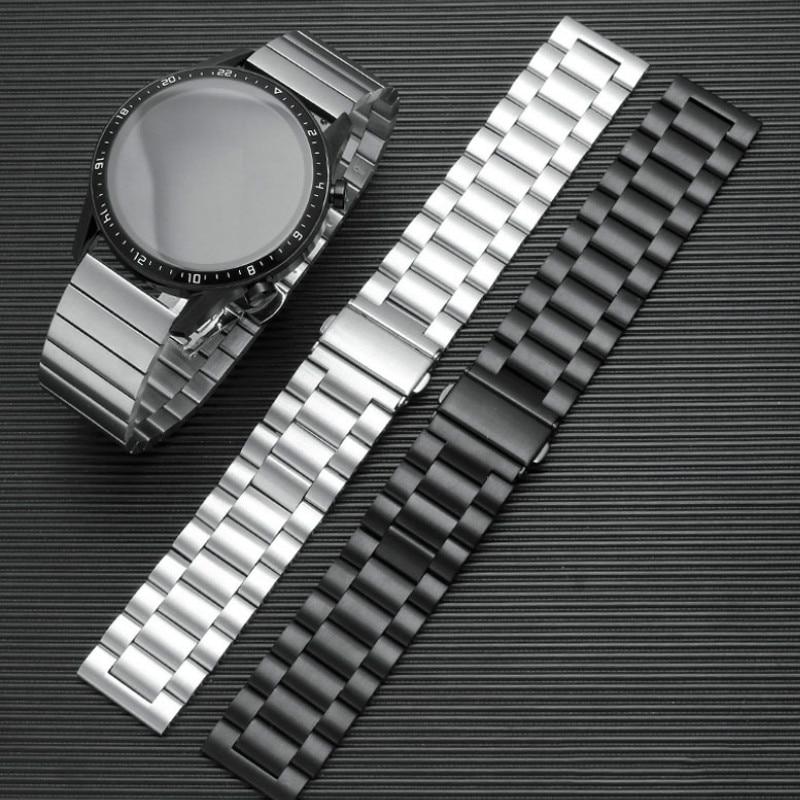 Armband Für Samsung Getriebe S3 S2 Frontier Klassische Uhr strap Edelstahl 46mm Huawei GT2 Ehre Magie 18 20 22 24mm band