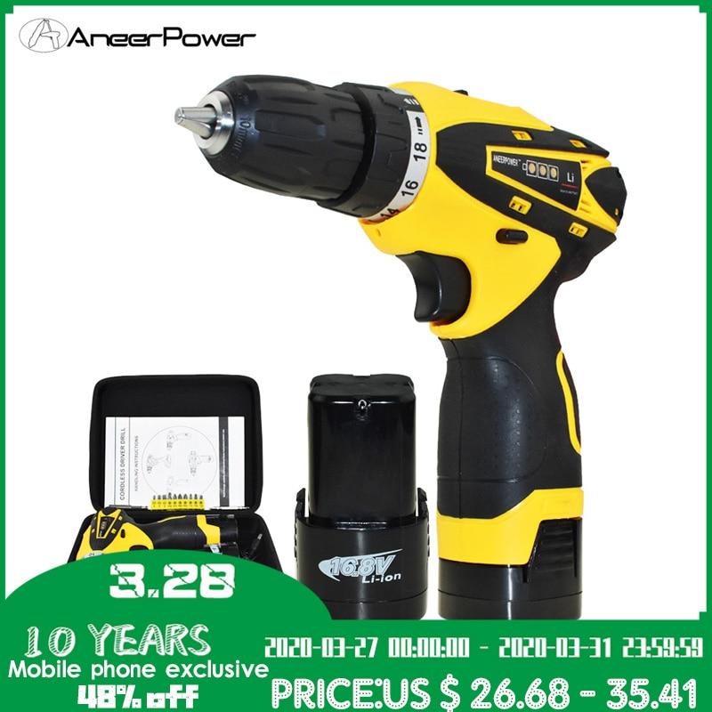 16.8v Cordless Drill Power Tools Electric Screwdriver Electric Drill 1.5Ah Battery Capacity Drill Mini Batteries Screwdriver