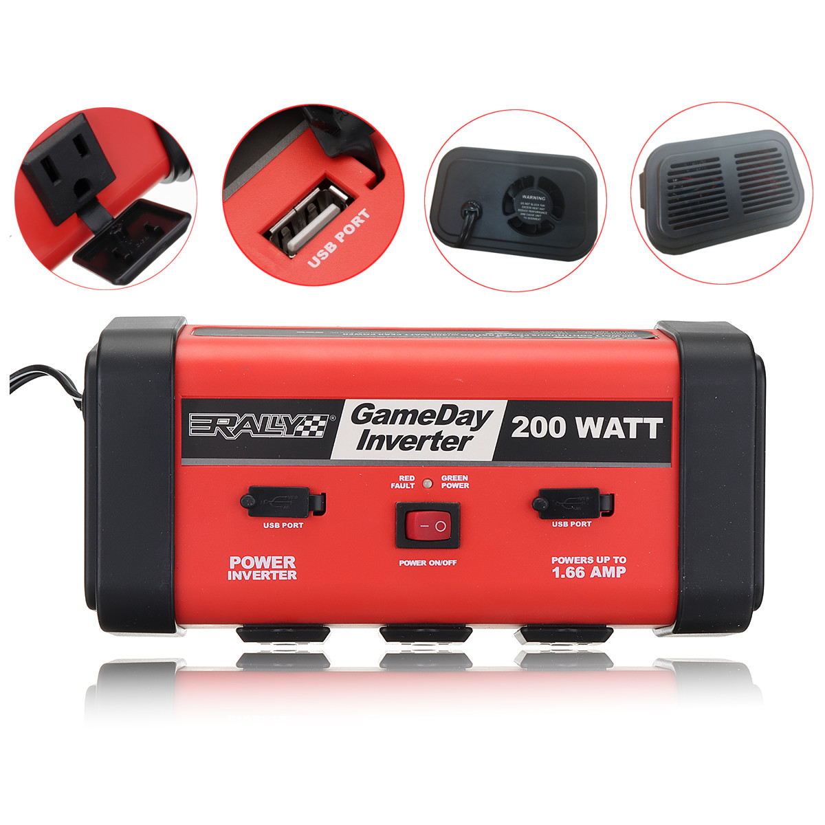 Auto Inverter 200W Auto Auto Power Inverter DC 12V zu AC 110V Adapter Konverter USB Ladegerät