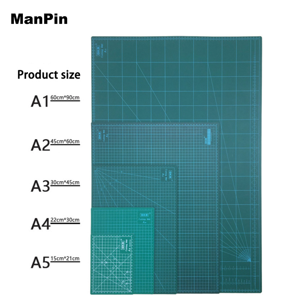 GKS A2 A3 A4 A5 PVC Cutting Mat Cutting Pad Patchwork Tools Manual DIY Cutting Board Double-sided LCD Repair Tools