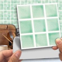 Funlife®Макарон зеленая мозаичная настенная наклейка маслостойкая