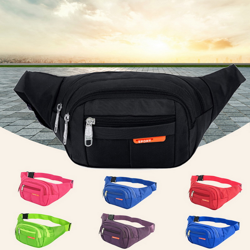Adisputent Waist Bag Men Belt New Fashion Waterproof Chest Handbag Unisex Fanny Pack Male Waist Pack Belly Bags Purse Black