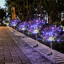 Path Light Fireworks Solar-Lawn-Lamps Outdoor Garden Festival-Decoration Copper-Wire-Lights