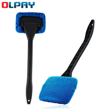 Car defogging window wiper car home dual-use detachable duster cleaning car window glass cleaning brush with Cloth Pad