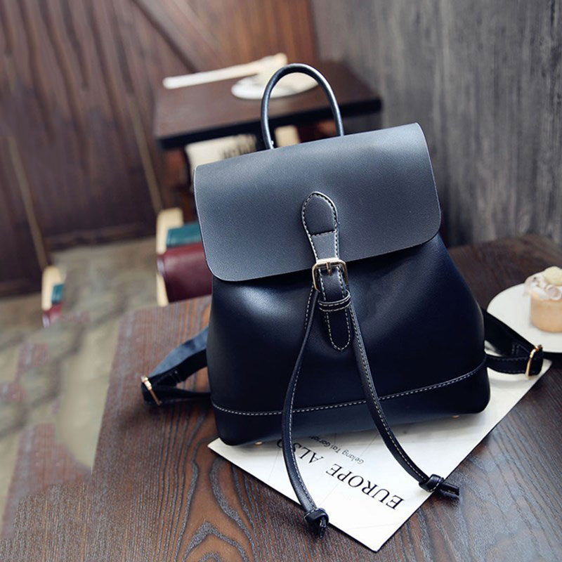 Backpack Women Leather High Quality 2020 новинка Women Black Fashion Bag Pommax Big Capacity Backpack For Women