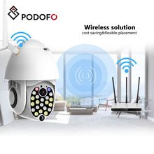 PODOFO 21 LED WIFI Camera 1080P IP 2.4G 2.0MP PTZ IP Pan Tilt IR Wireless Camera Waterproof Home Camera With Plug камера