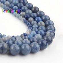 4/6/8/10/12mm Natural Blue Aventurine Jades Stone Beads Perles Round Loose Minerals Beads for  Jewelry Making DIY Bracelet 15 4 6 8 10 12mm matte blue sandstone round beads natural stone beads for jewelry making diy bracelet 15 perles minerals beads