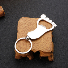 Unisex Keychain Foot Shaped Corkscrew Bottle Opener Metal Feet Pendant Keyring Key Holder Gift creative practical pendant metal bullet opener keychain