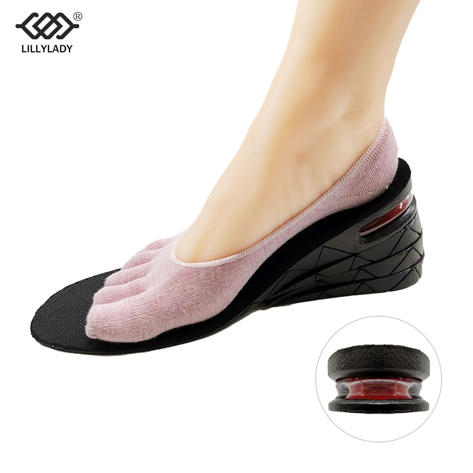 3-9cm Height Increase Insole Air Cushion Height Lift Adjustable Cut Shoe Heel Insert Taller Women Men Unisex Quality Foot Pads