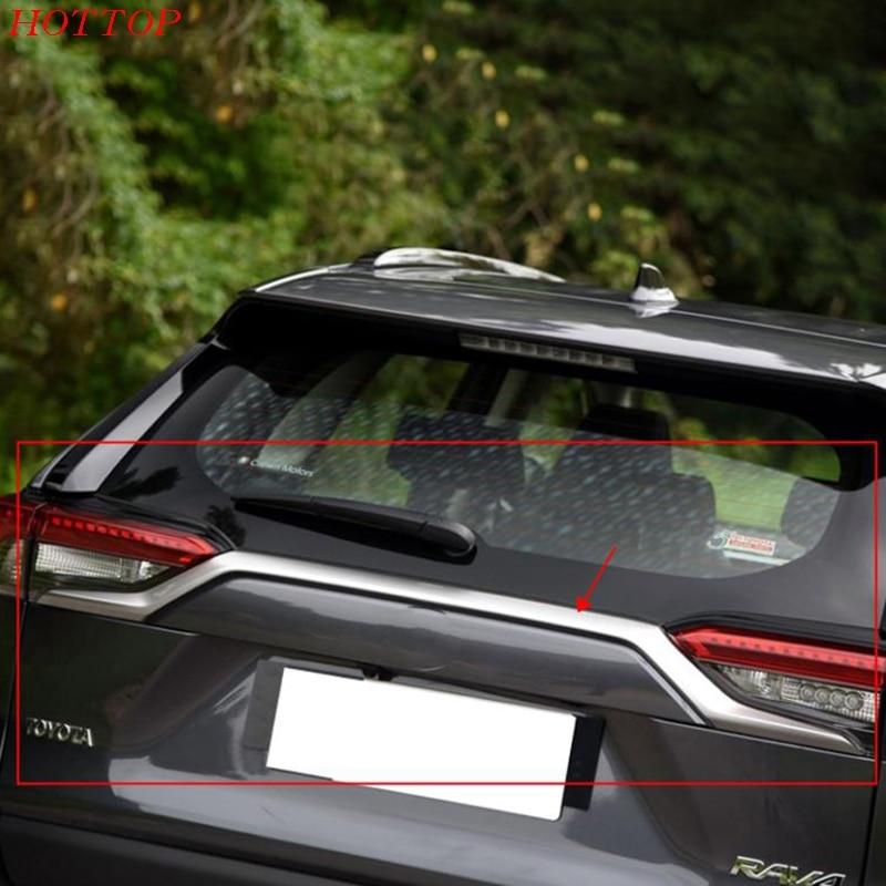 Fit For Toyota RAV42019 2020 Chrome Rear Trunk Lid Edge Tailgate Boot Door Cover Trim Garnish Molding Strip|Chromium Styling| |  - title=