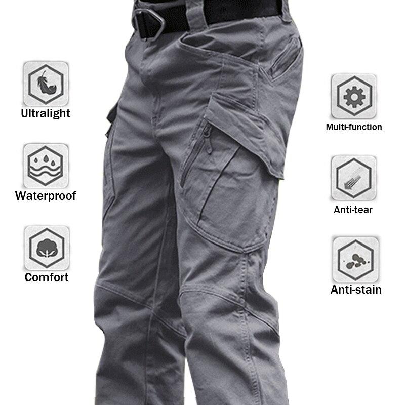 Брюки-карго мужские армейские, военные тактические эластичные штаны, много карманов, водонепроницаемые износостойкие, повседневные, 6XL