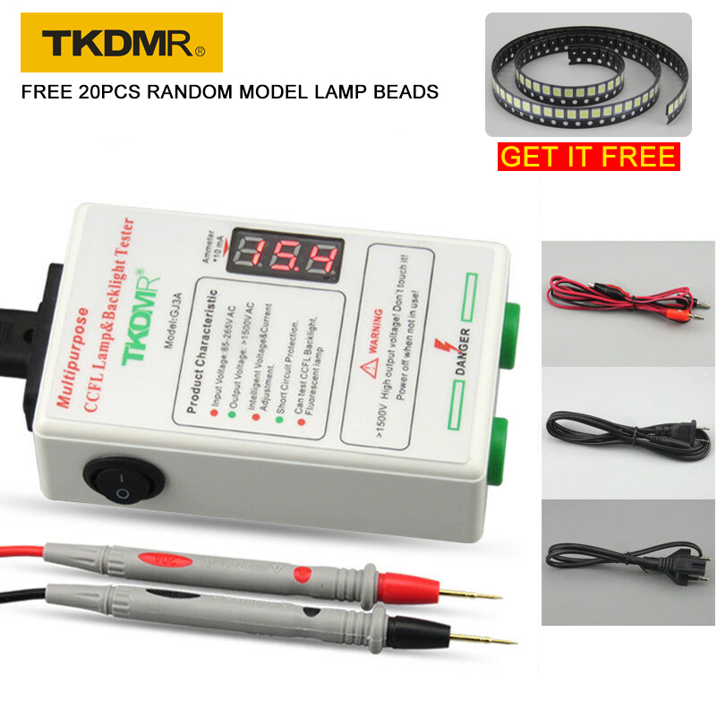 TKDMR GJ3A All Size CCFL Lamp Tester LCD TV Laptop Backlight Tester Output Current&Voltage Intelligent Adjustment Free Shipping