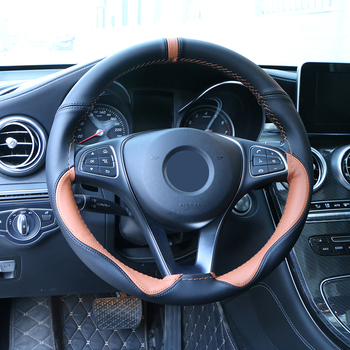 Universal Soft Fibe Leather Steering Wheel Cover Car Accessories Sport Style Steering Wheel Braid Durable Steering Cover 15 Inch