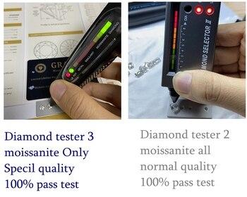 100% pass positive diamond tester 3  6.5mm 1 carat VVS1 Super White Loose Moissanite Diamond for ring making 3 5 7mm marquise cut vvs moissanite super white moissanite diamond 0 32 for ring making