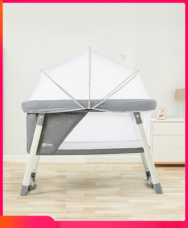 Portable Crib Newborn Cradle Bed Multi-function Baby Bed Bb Bed Foldable European Bed To Send Mosquito Net