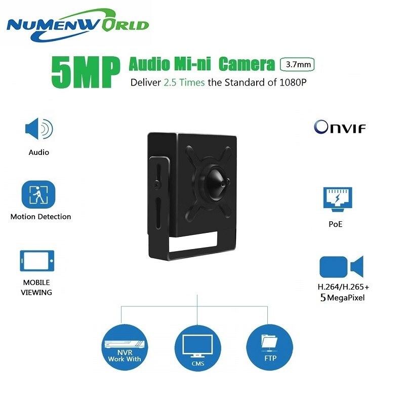 Câmera IP POE 5.0MP Numenworld HD webcam Mini Câmera de Vigilância CCTV câmera De Vídeo De Áudio ONVIF RTSP P2P para Home Indoor
