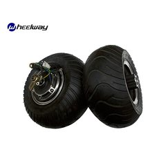 13 Inch 13X6. 50-6 brede Band Dubbele As Borstelloze Gearless DC Skateboard Wielnaaf Motor Schijfrem(China)