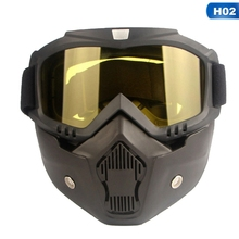 Protective Face Mask Motorcycle Helmet Filter Goggles Eyewea