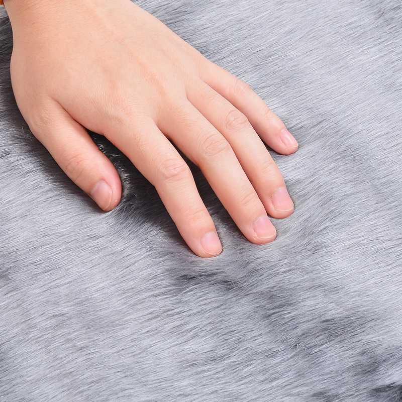 Searchl 부드러운 인공 양모 양탄자 카펫 의자 커버 인공 모직 따뜻한 털이 카펫 피부 모피 지역 양탄자 거실