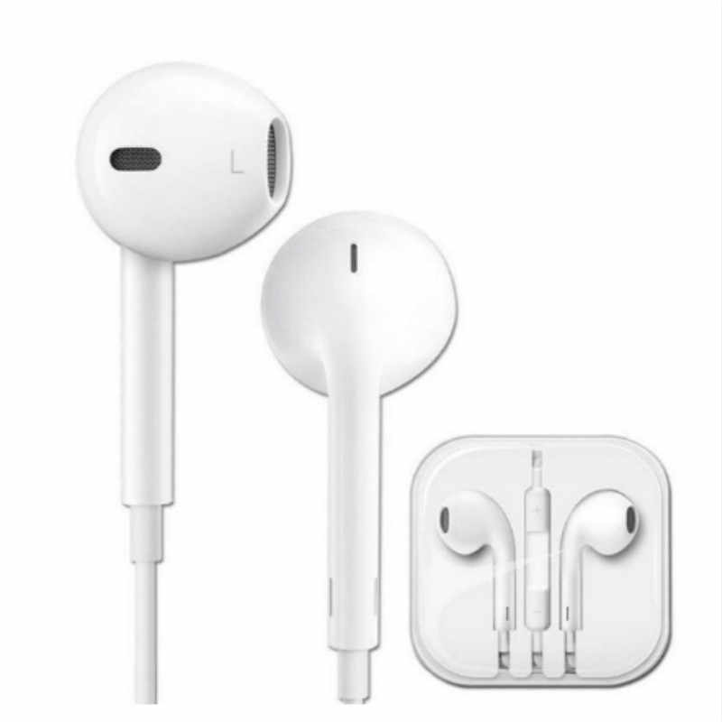 Universal Olahraga Earphone 3.5 Mm In-Ear Wired Earphone Earbud Stereo Headphone dengan MIC untuk Samsung Huawei Xiaomi iPhone 6