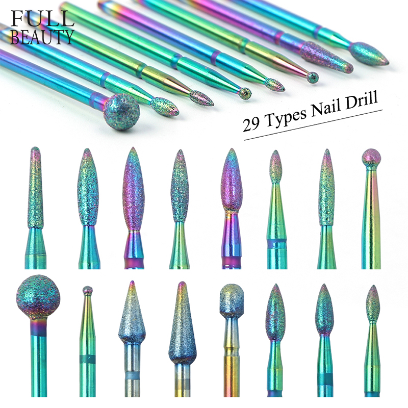 1pcs Diamond Nail Drill Bits Chameleon Rotary Burr Nail Cutter Electric Manicure Pedicure Milling File Nail Accessories CH1514-2