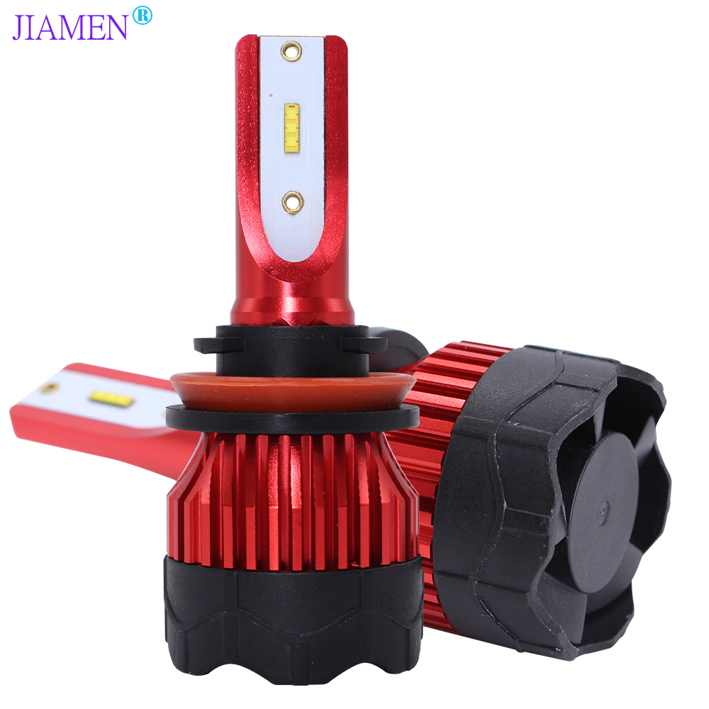 JIAMEN 2Pcs H4 <font><b>LED</b></font> Bulb <font><b>H7</b></font> H11 H8 9006 HB4 9005 HB3 Auto Car Headlight <font><b>120W</b></font> 18000LM High Low Beam Bulbs Automobile Lamp 6000K image