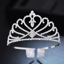 Barrette Crown Fairy Queen Tiara Bridal Headdresses Wedding Kids Hair Comb Headband Diadem Girls Princess Decoration