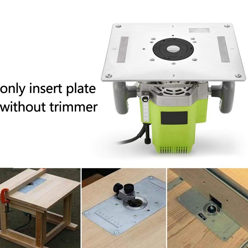 Hot Sale Multi-Functional Aluminum Router Table Insert Plate Trimmer Engraving Machine Woodworking Bench Router Plate