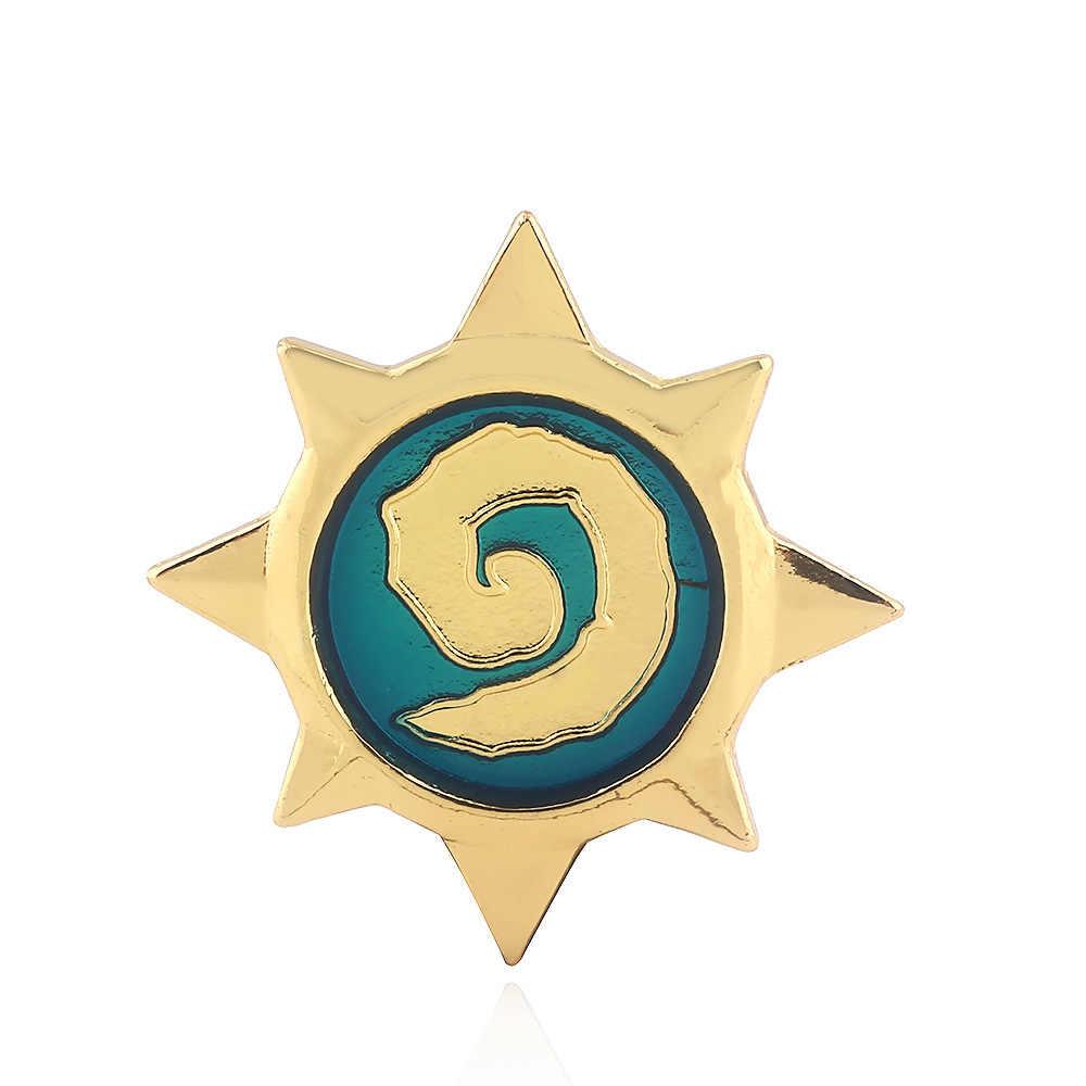 ゲームハーススターバッジ古典ブローチ男性の女性のためのピンボタンゴールドトーンエナメルヒーロー Warcraft ブローチラペルクラスプ