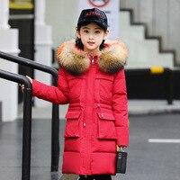 2020 Children's down jacket girl medium long children's wear heavy coat large children's new large fur collar heavy winter wear