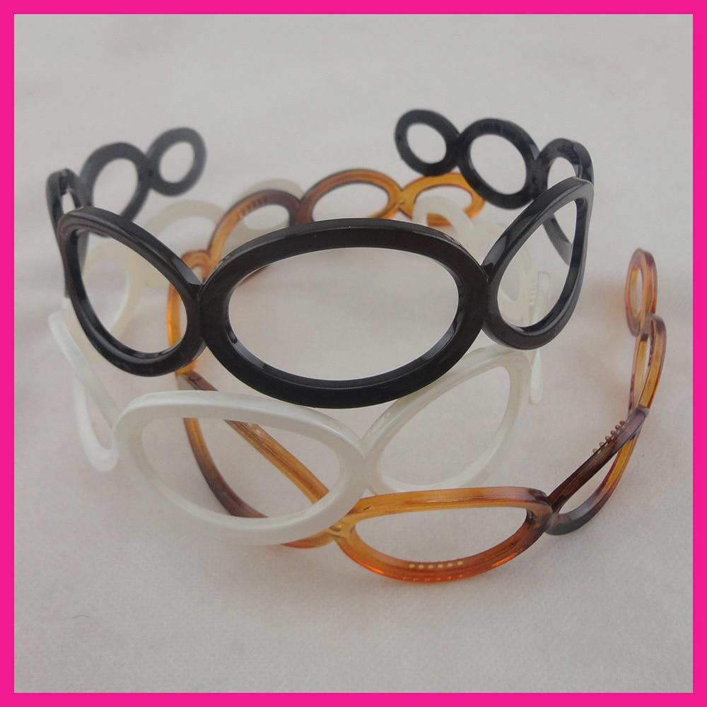 10PCS 12mm Pastel Colors fur Velvet Fabric Covered Plastic Hair Headbands winter