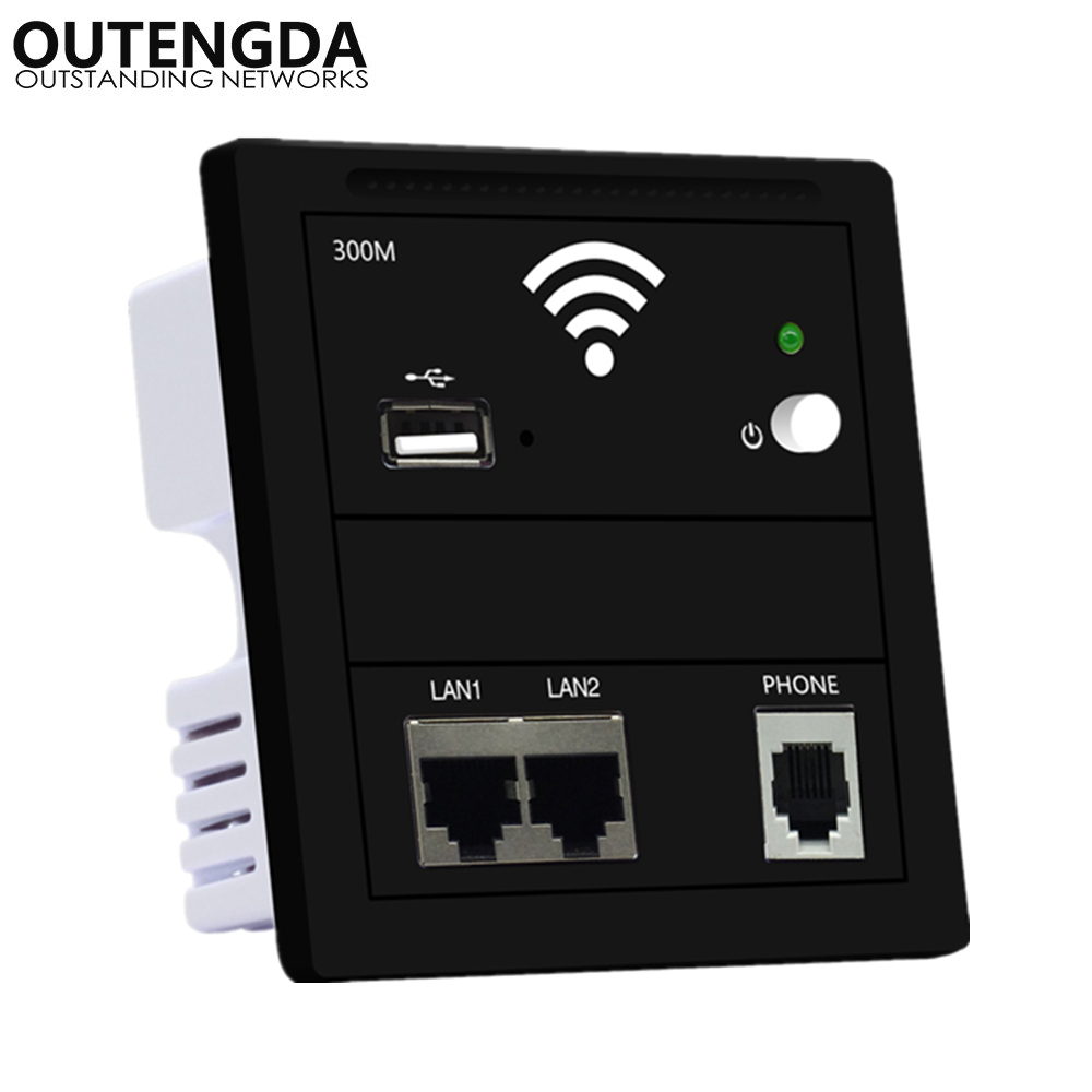 86 Type Eu-Standard Panel Embedded Wireless WIFI Router AP Repeater In Wall Access Point For Hotel Smart Home In-wall AP