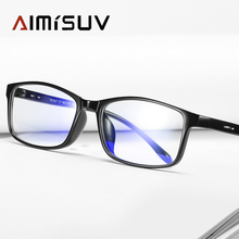 AIMISUV Blue Light Glasses Frame Men Computer Glasses Myopia Sunglasses Gaming Anti Blue Ray Prescription Lens