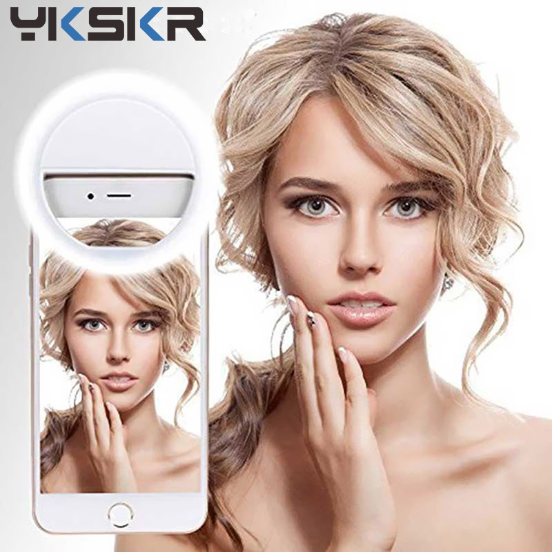 YKSKR USB charge LED Selfie Ring Light for xiaomi micro For Iphone 11 Supple mentary Selfie Enhancing Fill Light For Phones