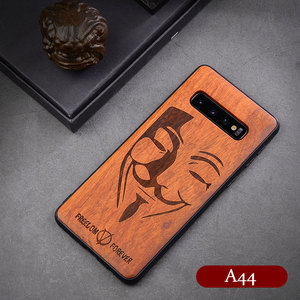 Image 3 - Real Wood Case for Samsung Galaxy Note 20 Ultra 10 Plus 5G S20 Ultra S10 Cover Carving Embossed Cases for Galaxy Note10+ Funda