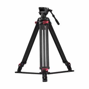 Image 2 - Andoer professionnel photographie trépied support Aluminium fluide hydraulique bol tête pour Canon Nikon Sony DSLR appareils photo