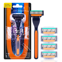 RZRIGUETTA Razor For Men High Quality Steel Blade Shaving Razor Cartridge 4 Layers Blade Razor Beard Body Hair Remover