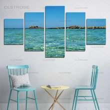 5 шт синий зеленый море и риф hd Печать холст Картина гостиная