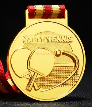 General Table Tennis Competition Medals Collective Medal Medals Listed Gold Silver And Bronze Medals 2020 wholesale and retail military medals hot sale zinc alloy carving medal