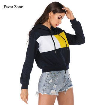 Autumn Winter Women Hoodies Casual Color Patchwork Hooded Sweatshirt Long Sleeve Loose Pullover Tops Female Clothing Tracksuits women solid color plush hooded sweatshirt autumn winter long sleeve loose warm hoodies coat pockets casual fashion outwear tops