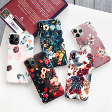 Luxury Printing Leaves Floral Case Cover For iPhone