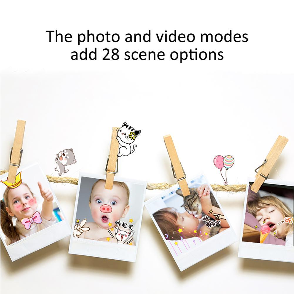 H3e031a4b3ff24fdea4a23ae632229b54p Mini Cartoon Kids Camera Creative Children's Camera HD Digital Camera Portable 1080P Camera For Kids Birthday Christmas Gift